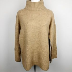 NWT Topshop Soft Funnel Neck Camel Sweater Sz 8-10